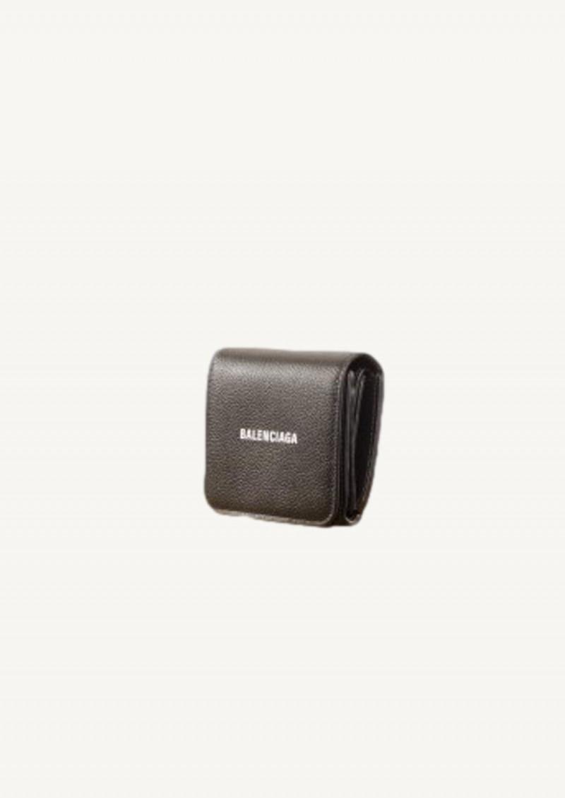 Black cash compact wallet