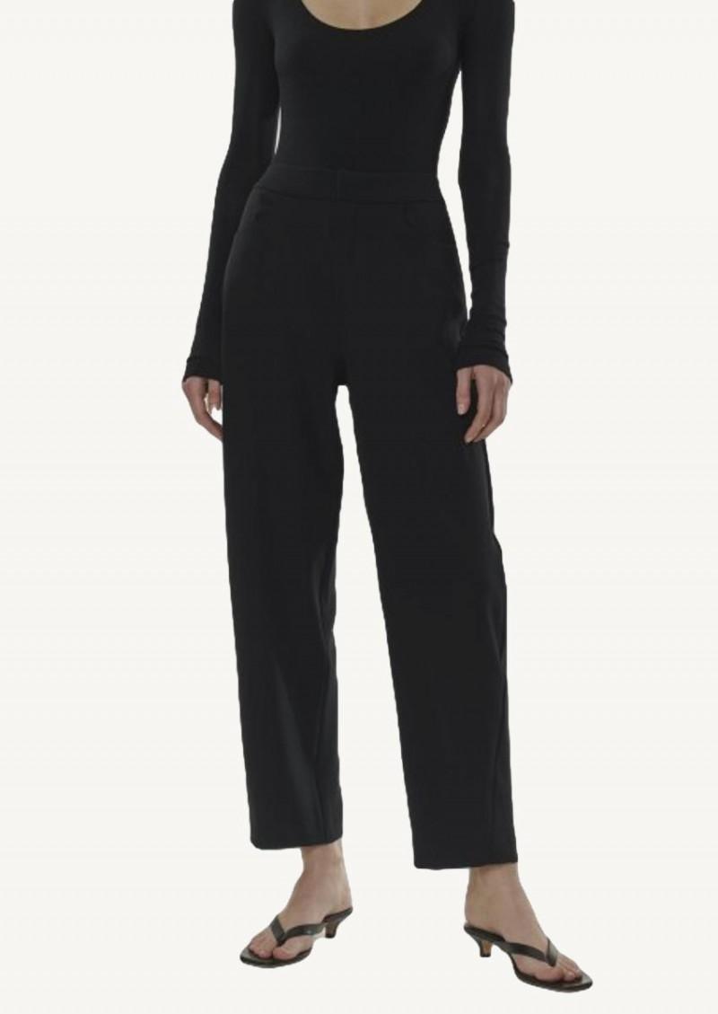 Pantalon ajusté en crêpe noir