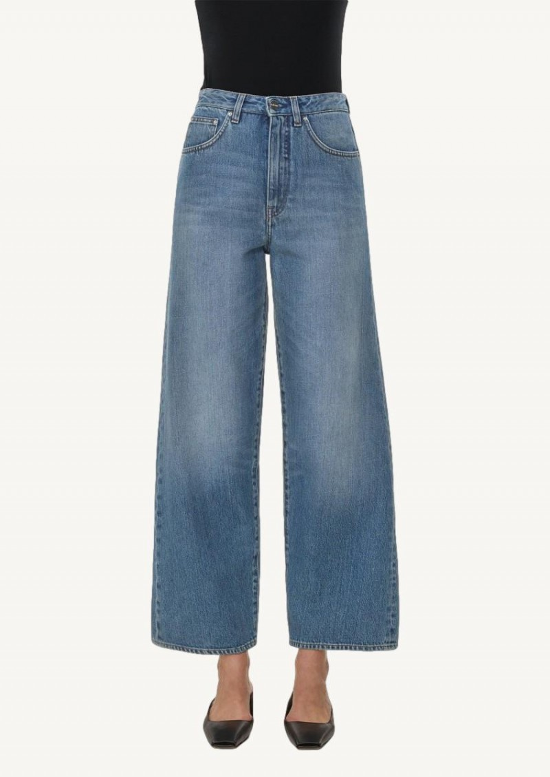 Jean flare washed blue