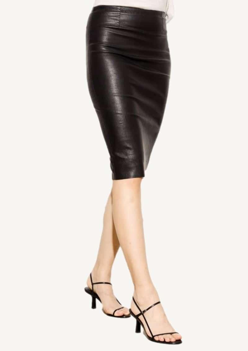 Black Gilda leather skirt