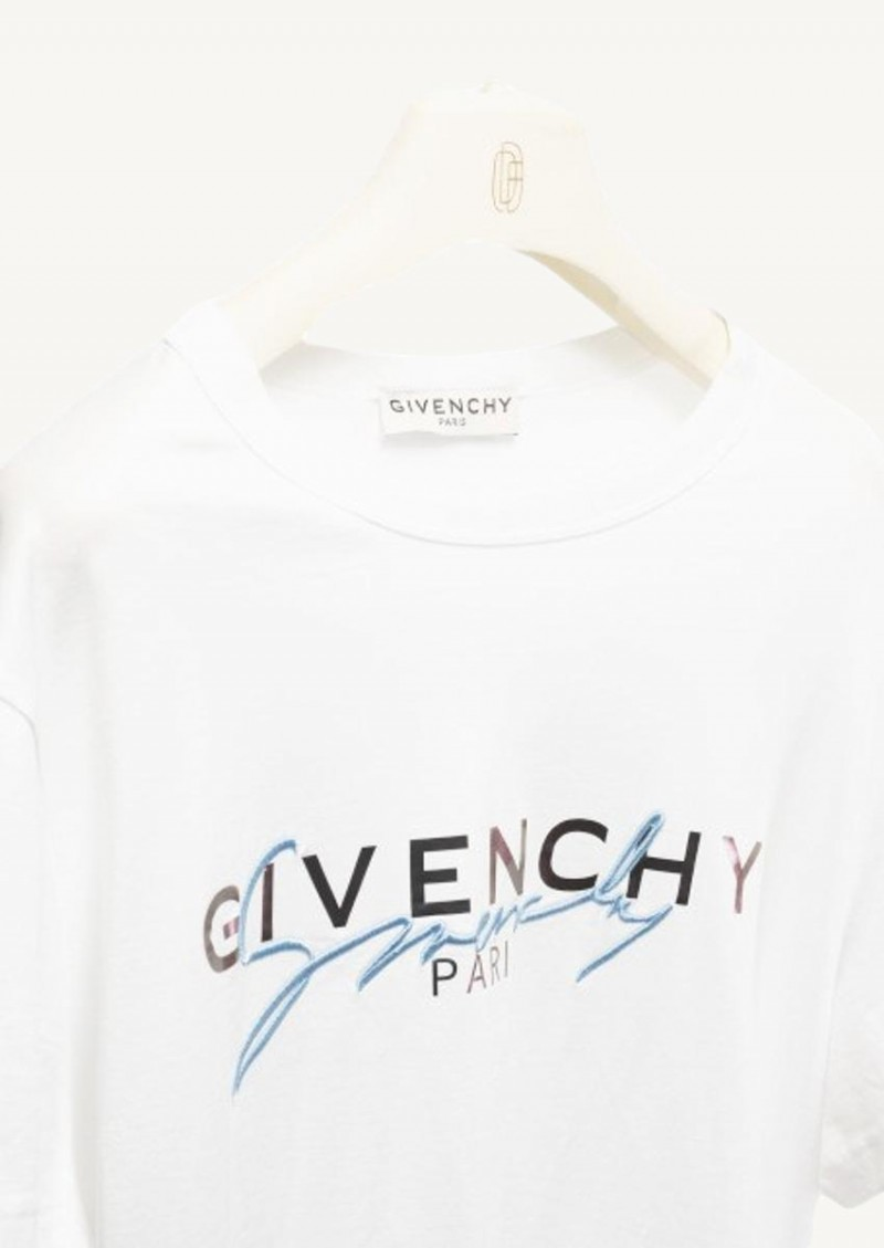 White Givenchy embroidered t-shirt