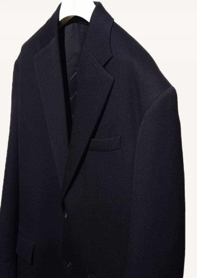 Black Cavalry Boxy coat