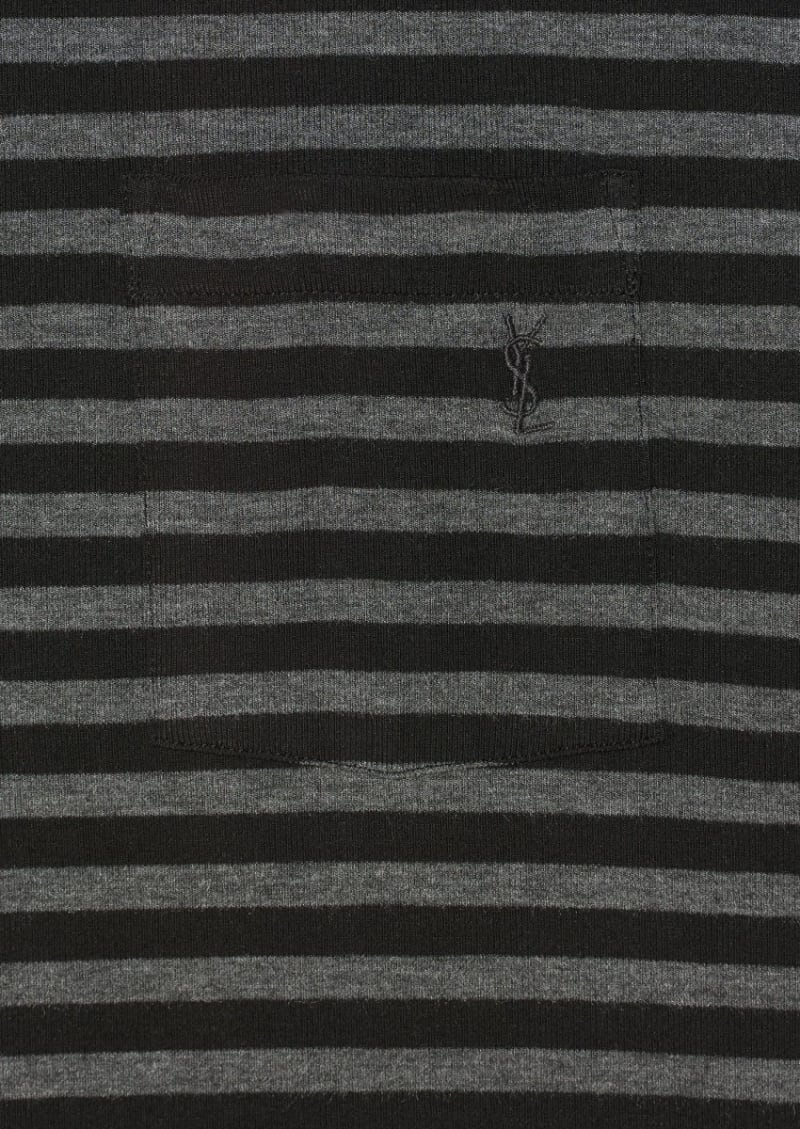 Black and grey striped t-shirt