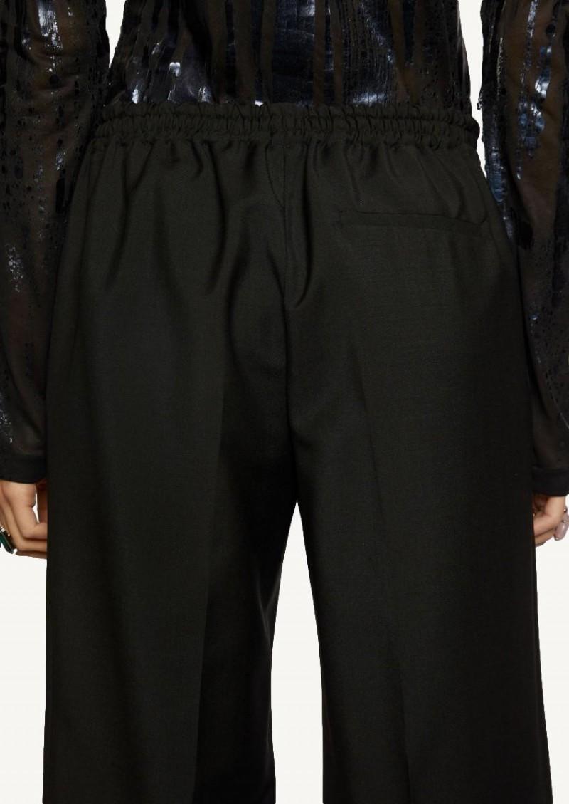 Pantalon taille élastique noir