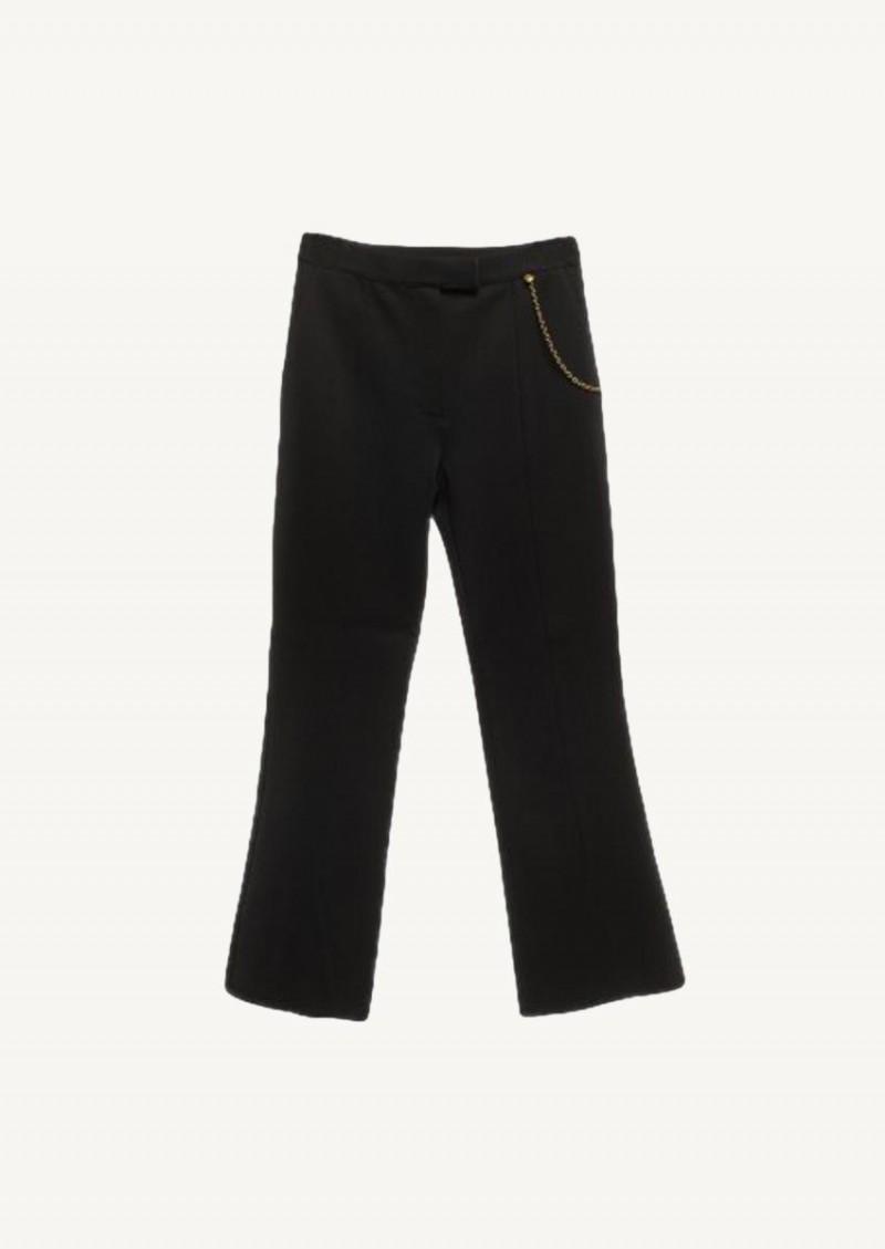 Pantalon évasé avec chaine noir