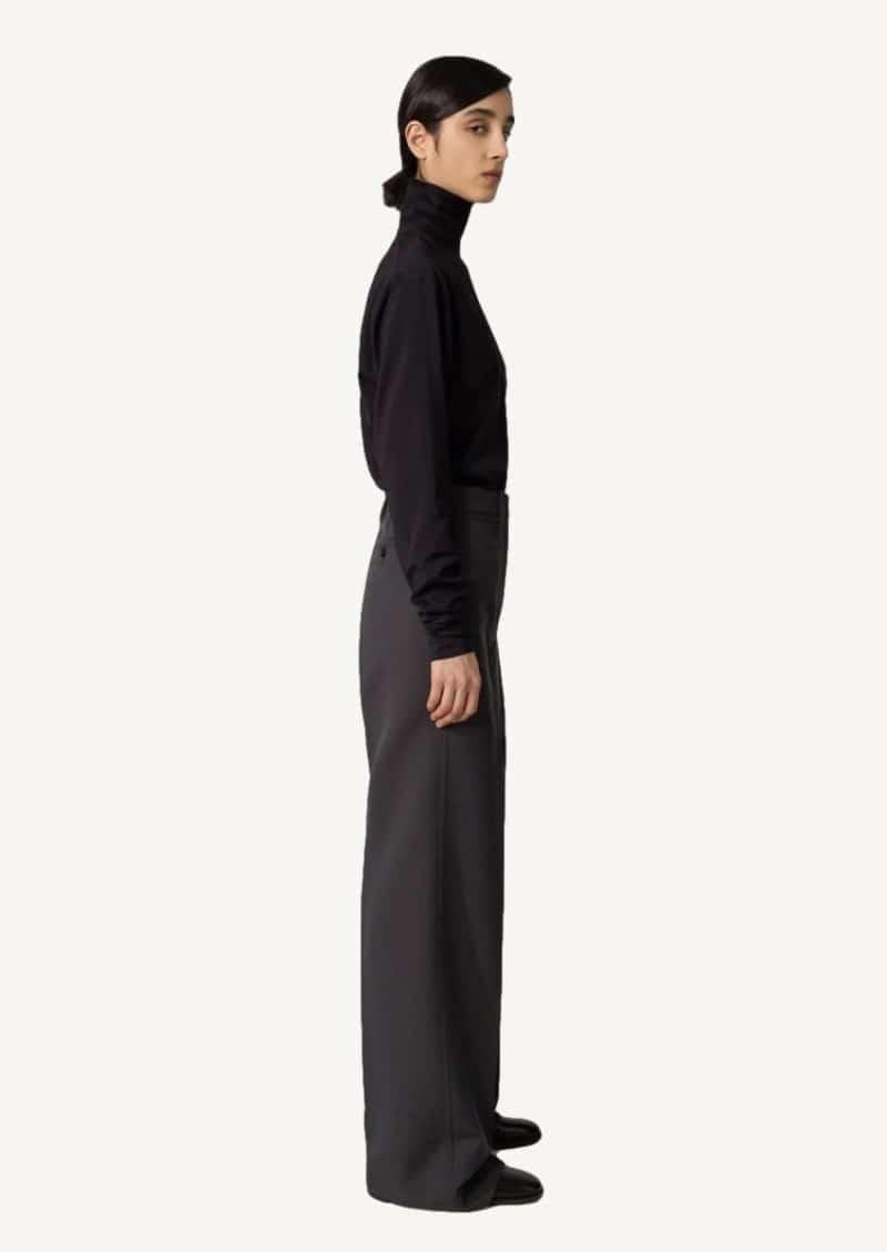 Pantalon droit gris foncé