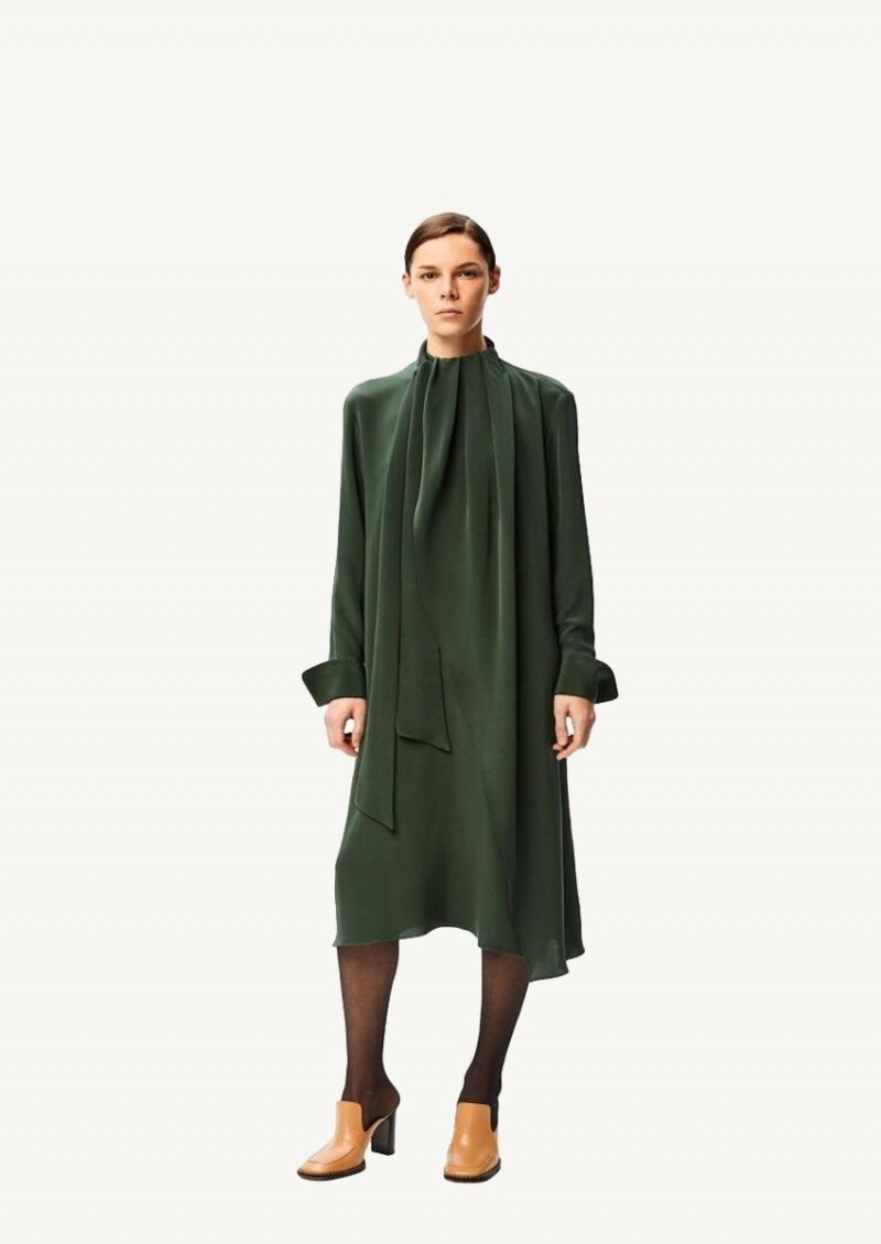 Forest green lavalliere dress