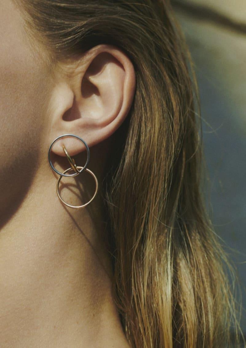 Boucles d'oreilles GALILEA S vermeil jaune, rose et argent