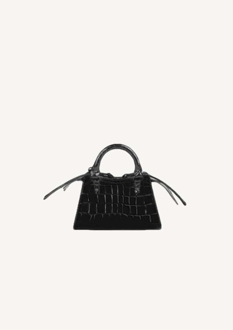 Black croco neo classic city bag mini