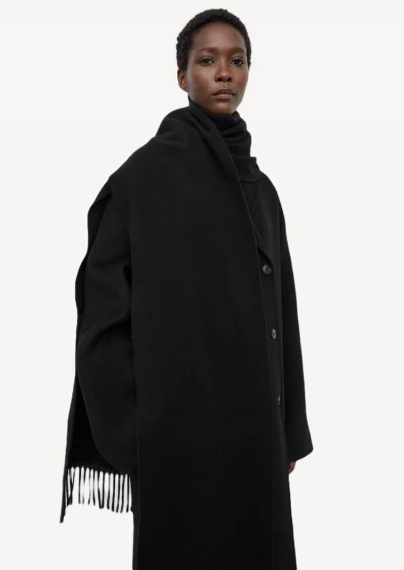 Echarpe en laine noire