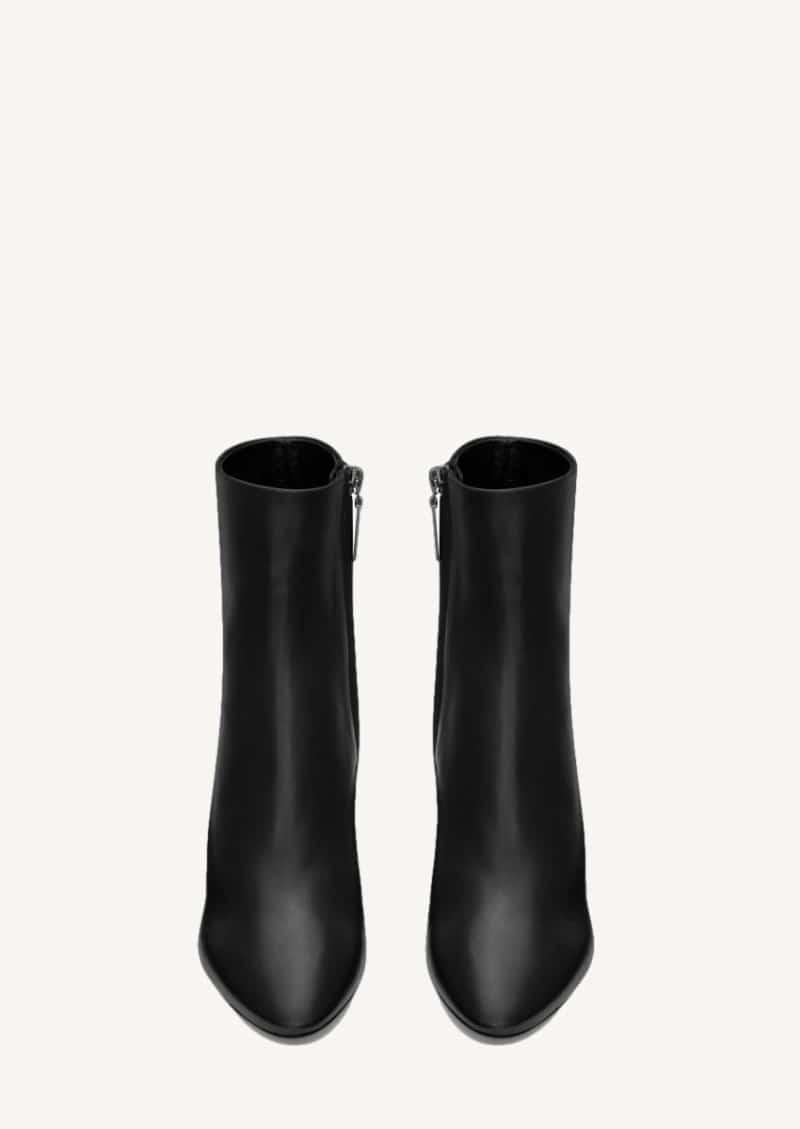 Lou bottines en cuir lisse noir