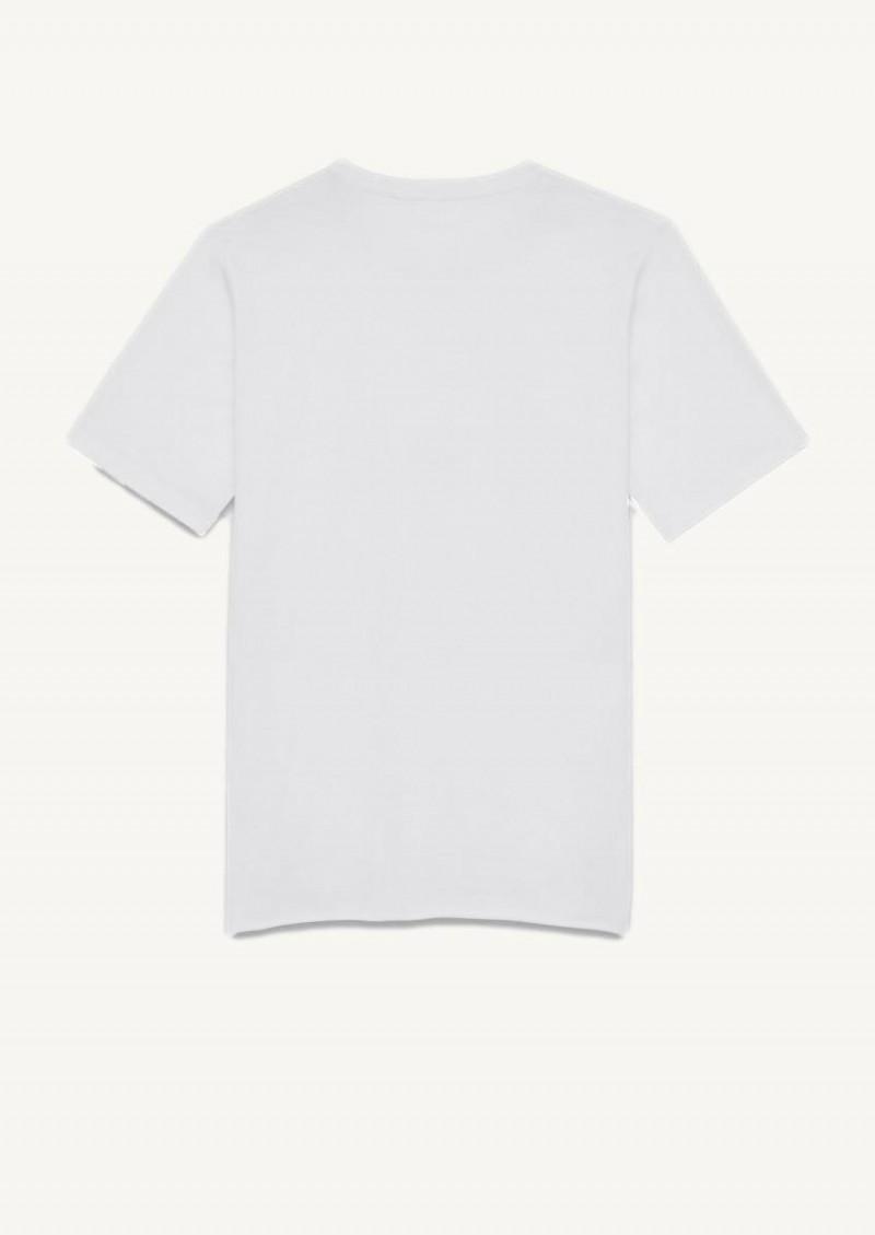 T-shirt Saint Laurent rive gauche blanc