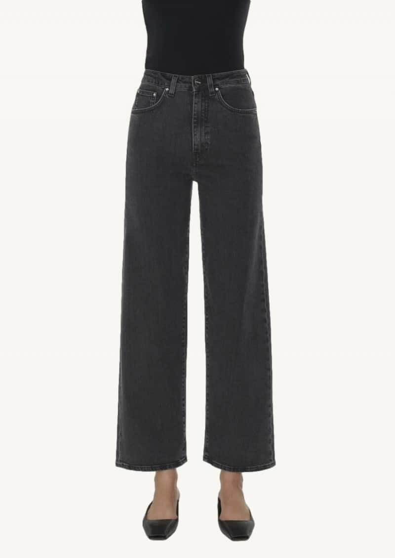 Jean coupe flare grey wash
