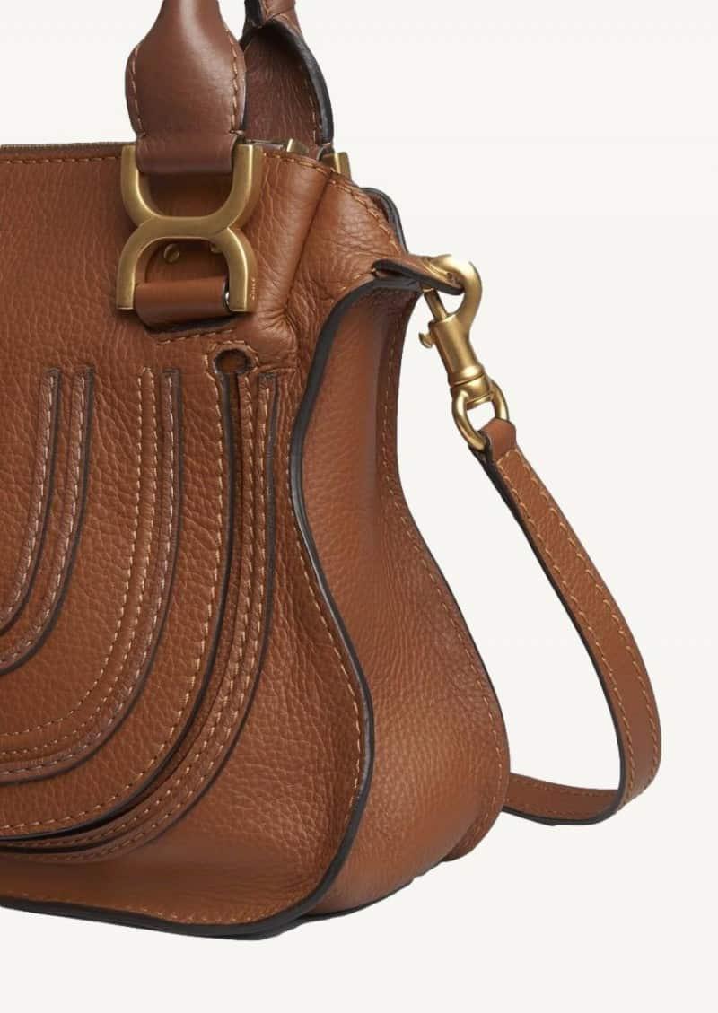 Tan small Marcie bag