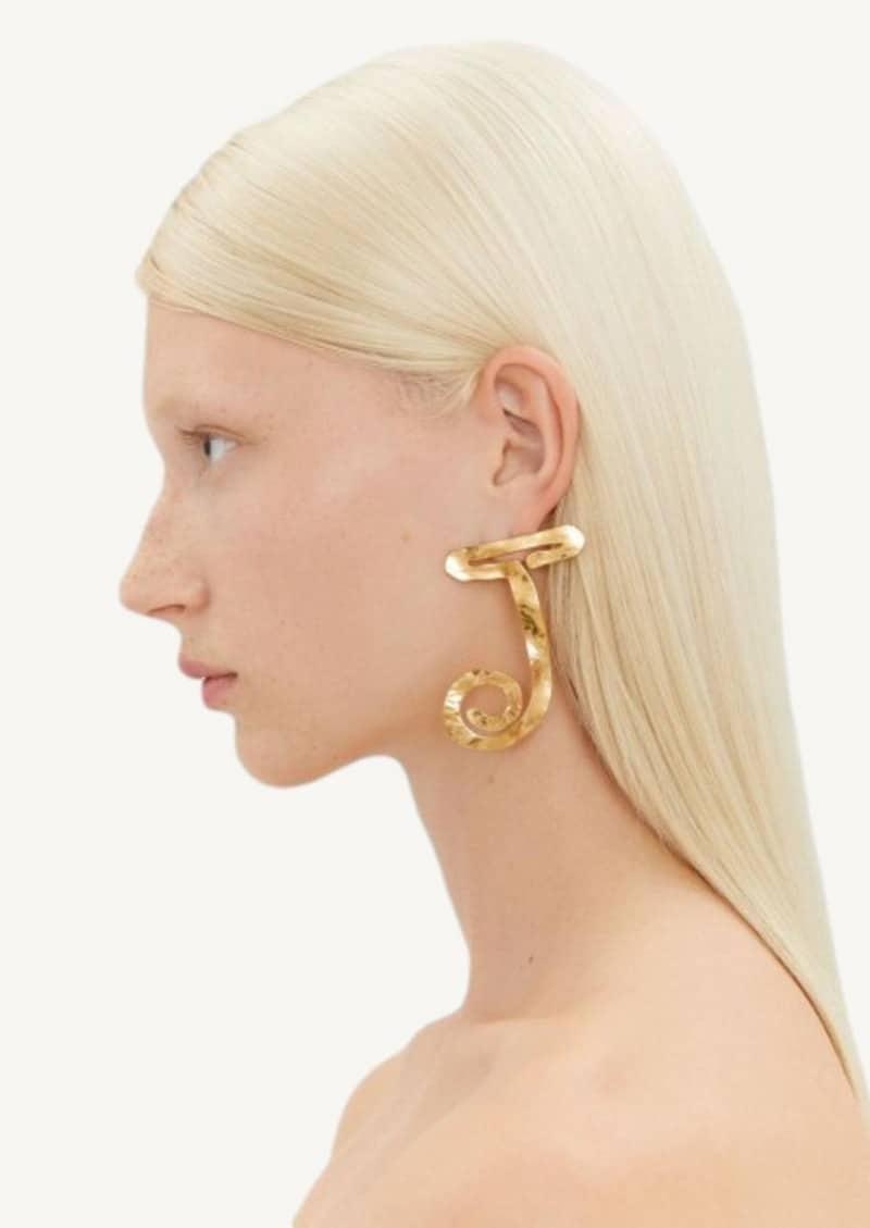 The J earrings