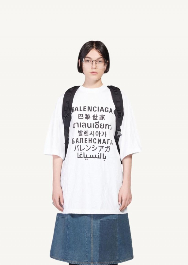 T-shirt Languages XL blanc