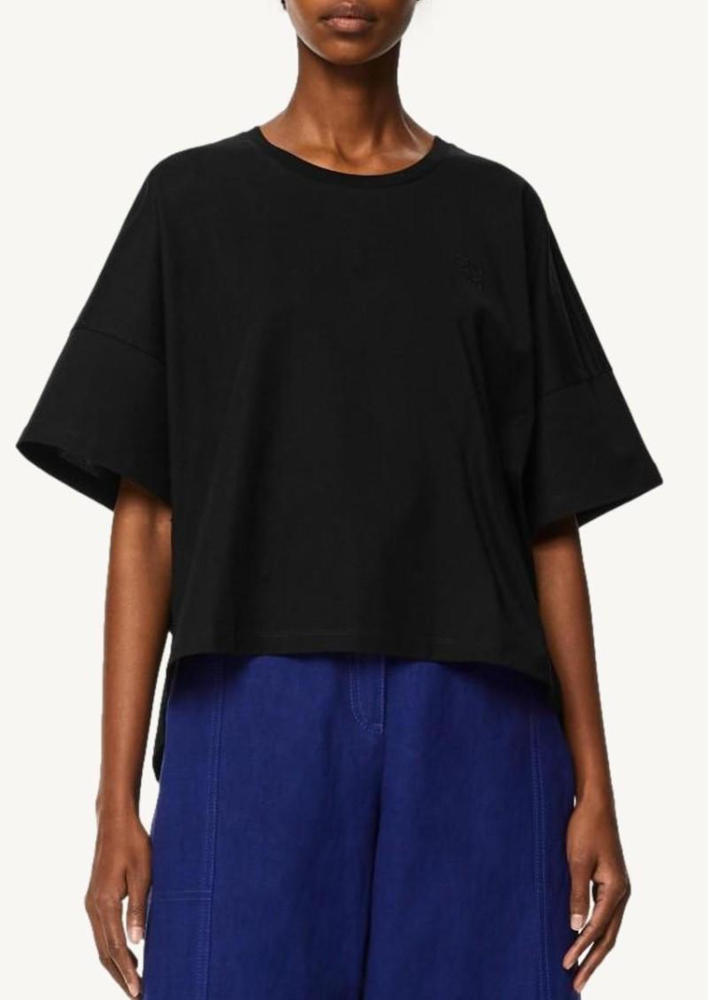 T-shirt court Anagram noir en coton