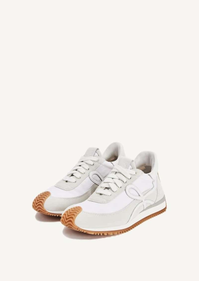 Sneakers Flow runner blanches