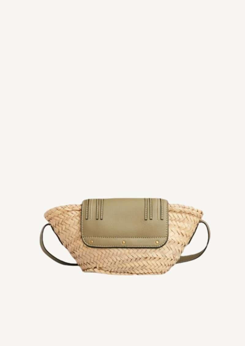 Pottery green small Marcie shoulder basket
