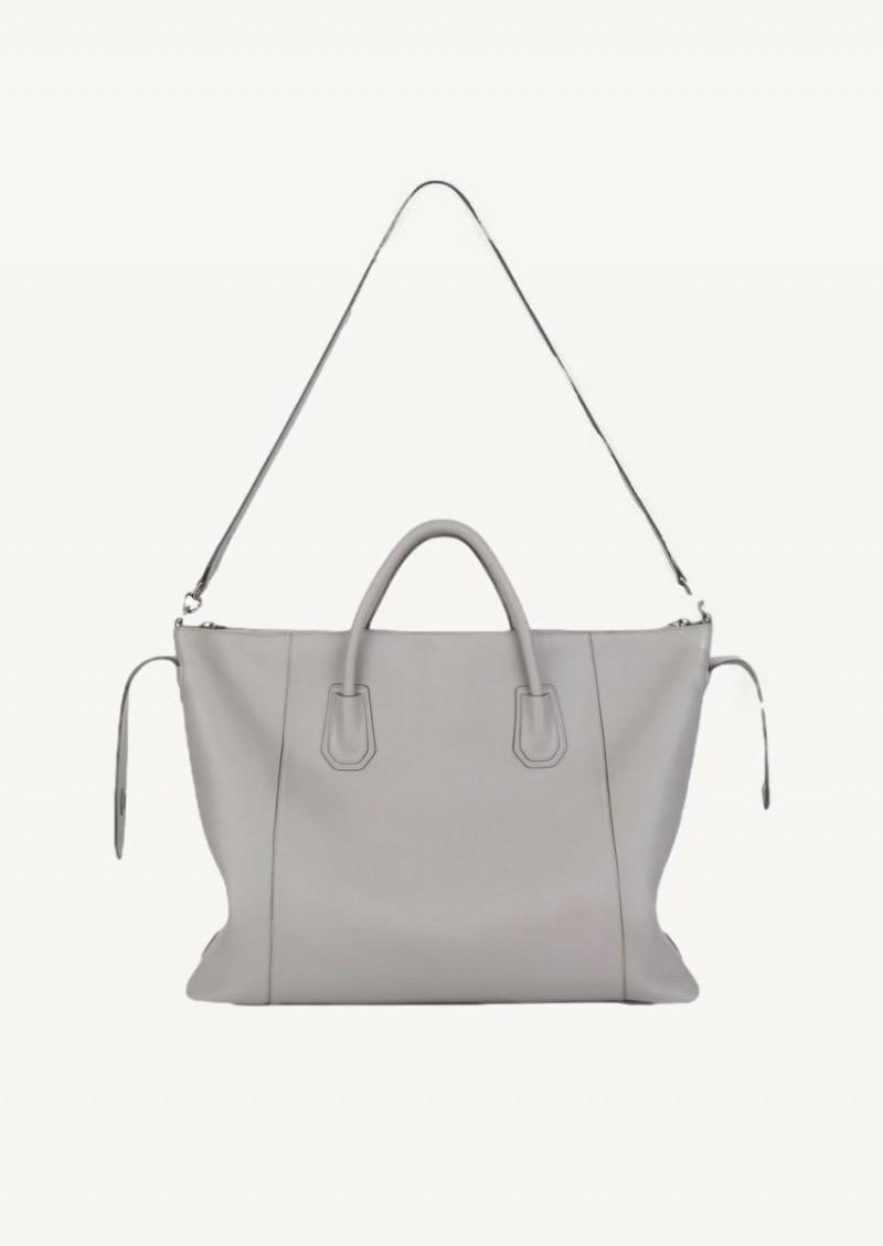 Grand sac Antigona soft gris perle