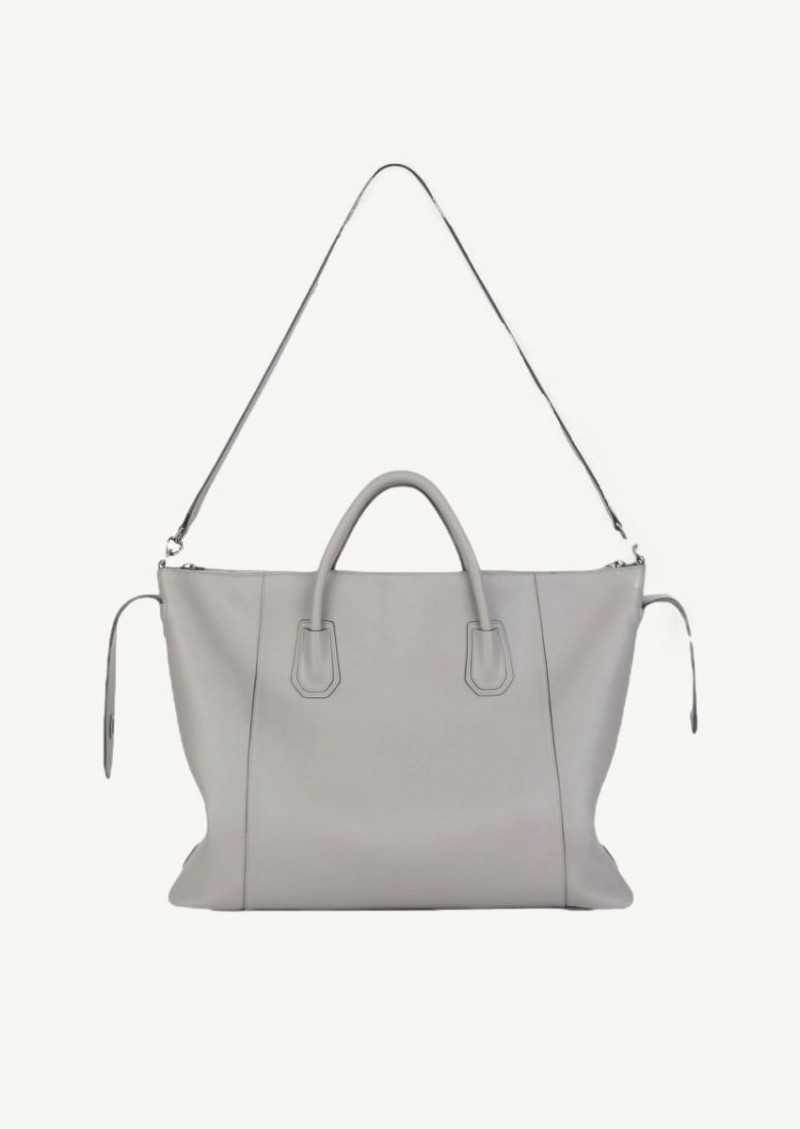 Grey pearl large soft Antigona bag