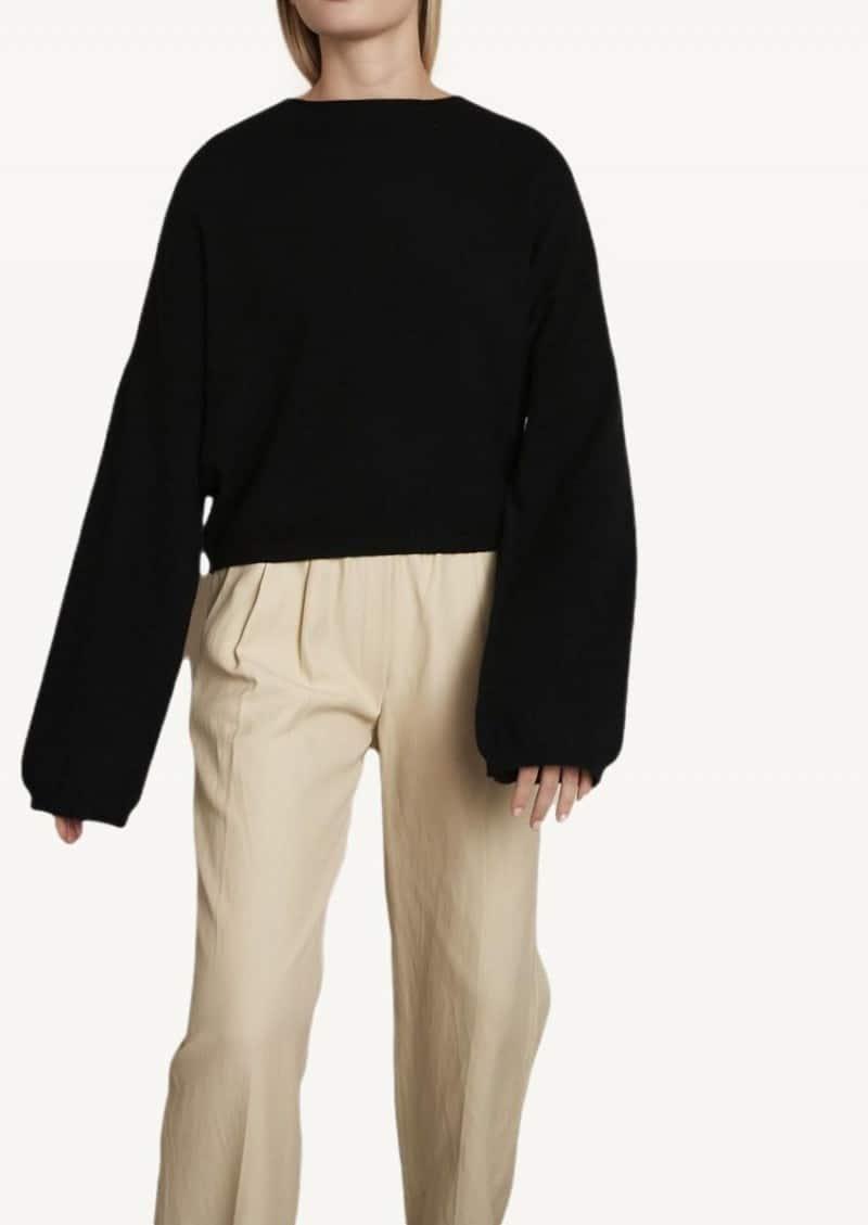 Black Fakarava cashmere sweater