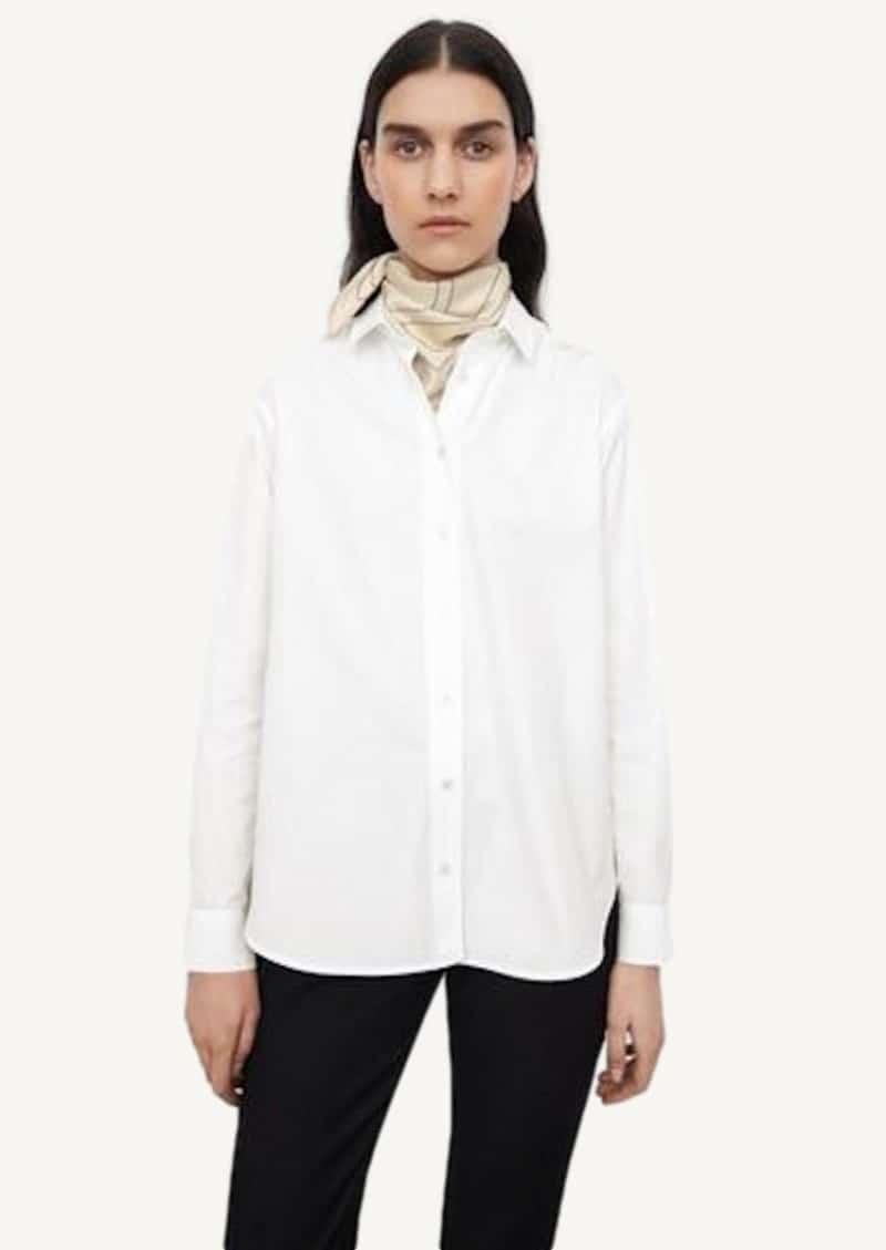 White signature cotton shirt