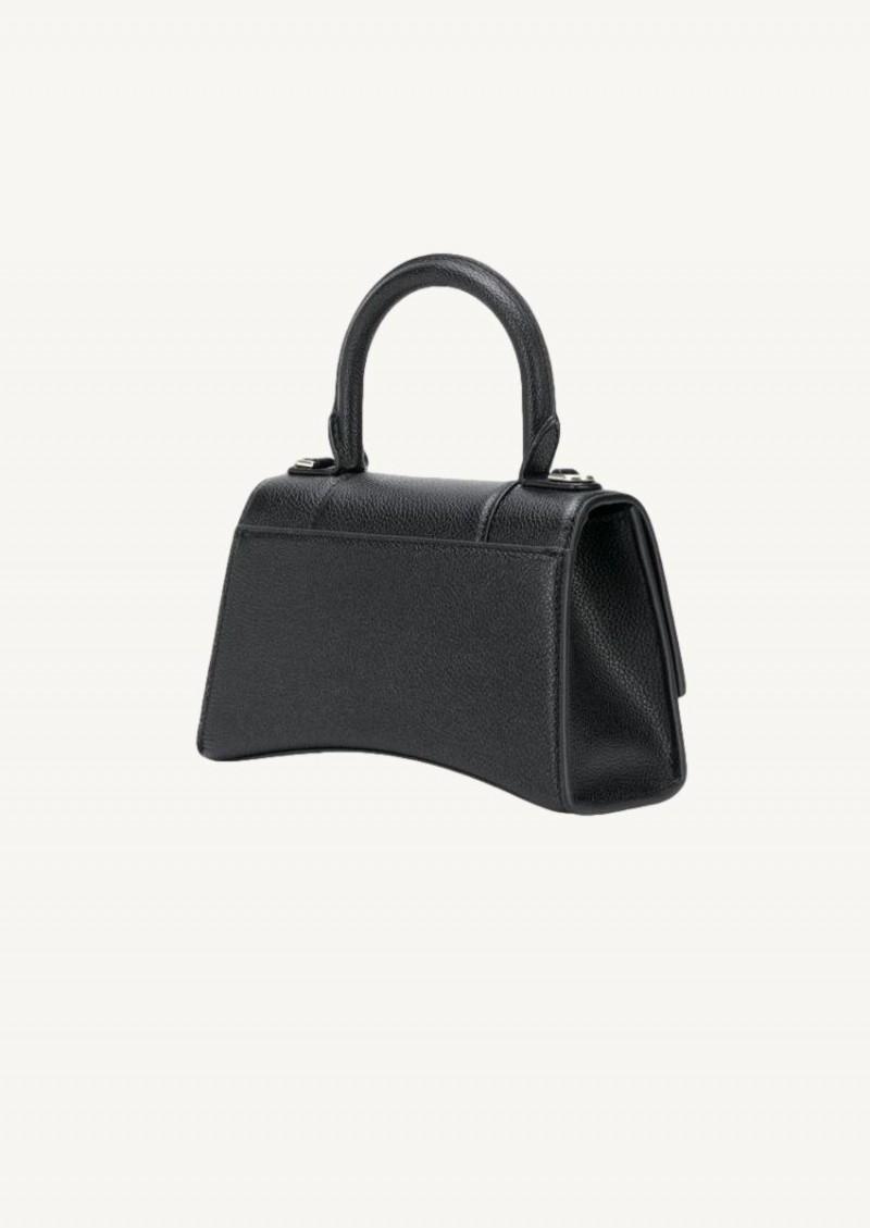 Black Hourglass XS Top Handle bag