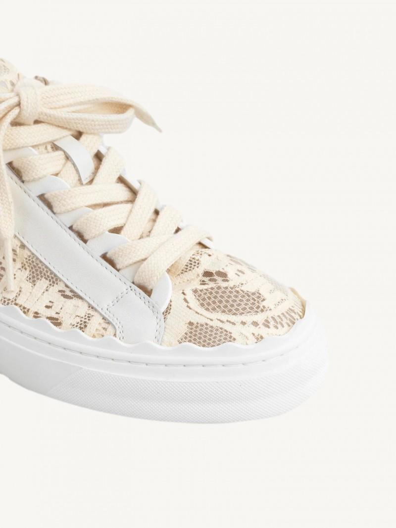 Mild beige Lauren lace low-top trainers