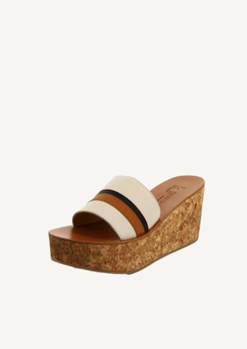 Pul linen, natural and coffee Ysia sandals