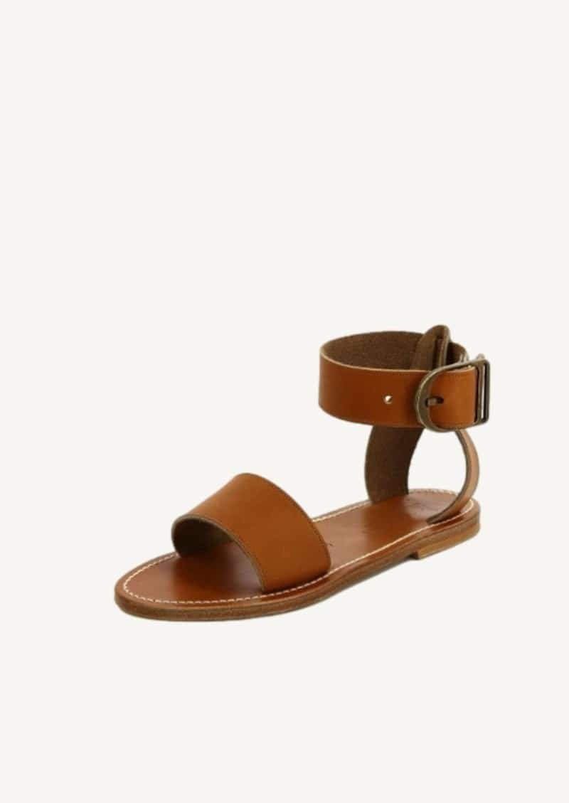 Natural pul leather Carbet sandals