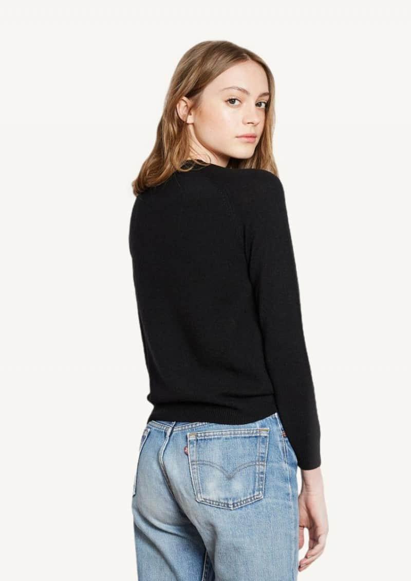 Black superlight Mila cashmere sweater