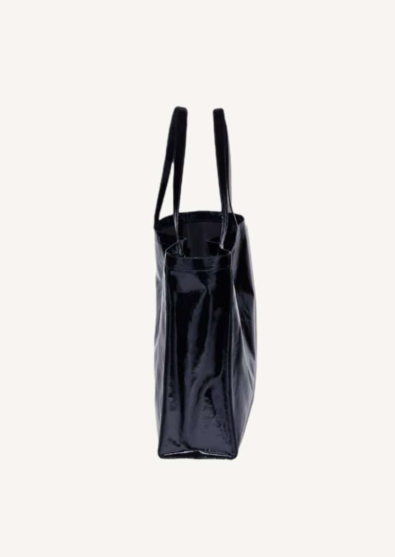 Black oilcloth large tote