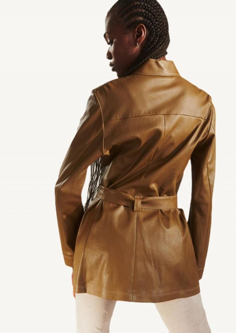 Tourbe Claudius 21 stretch leather Saharan jacket