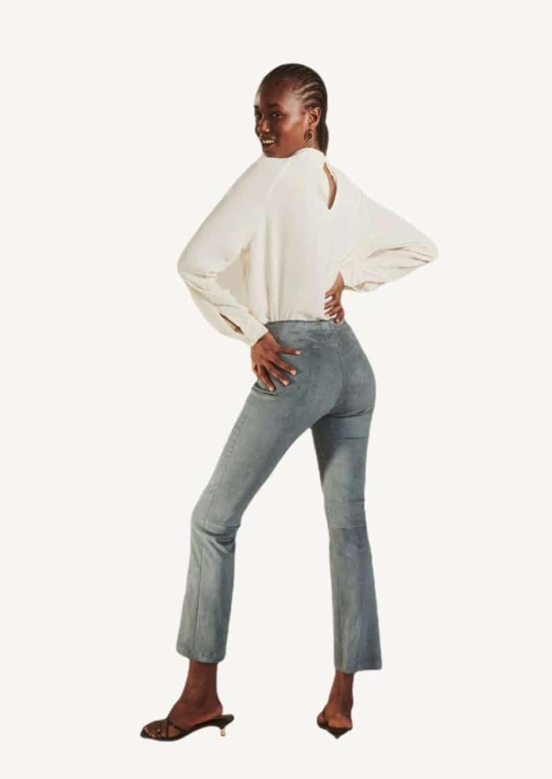 Persan JP Twenty stretch-leather cropped and flared pants