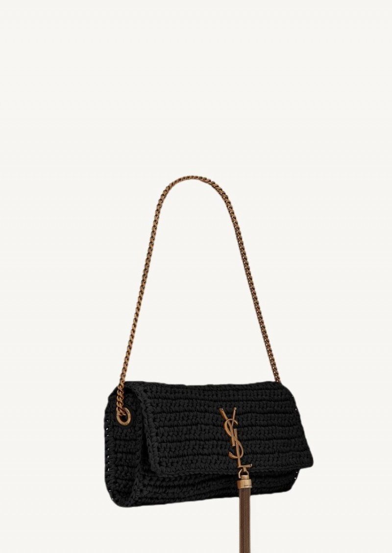 Black Kate 99 in raffia and leather