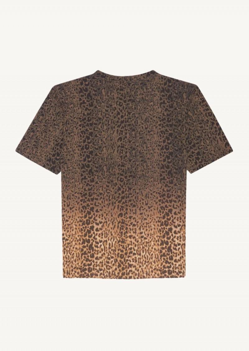 T-shirt tie and dye à imprimé léopard