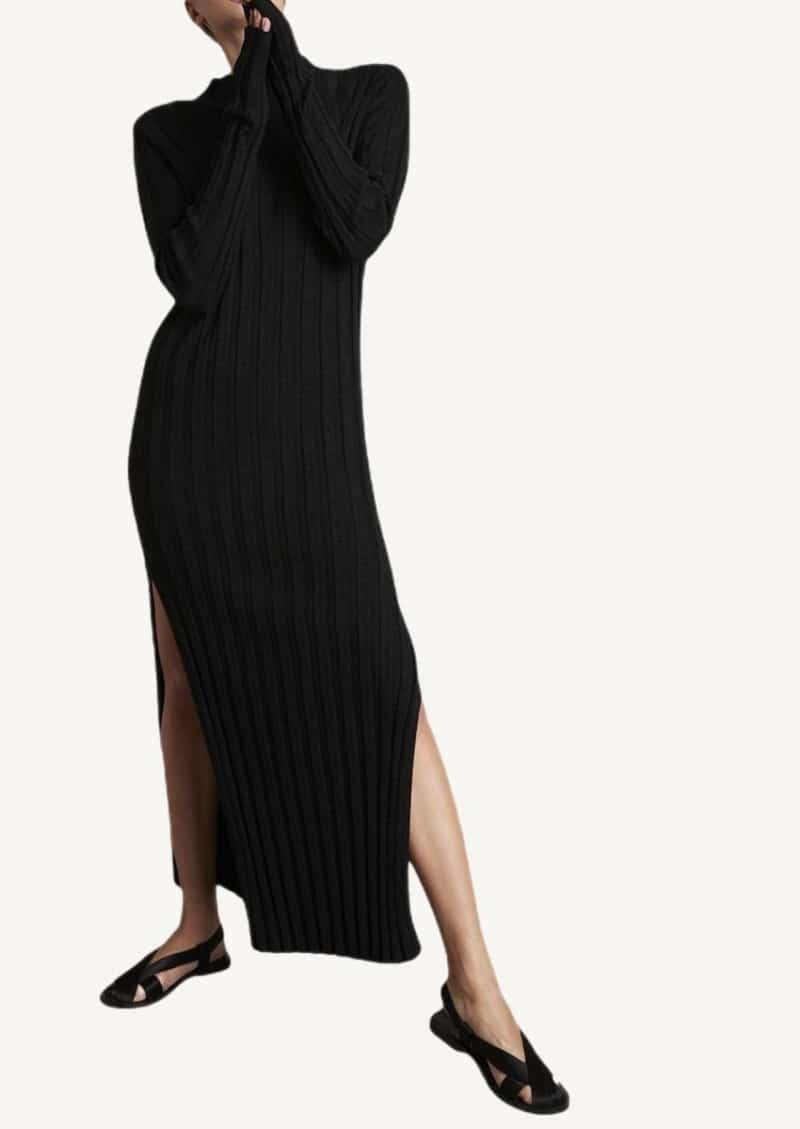 Black Gaya mesh dress