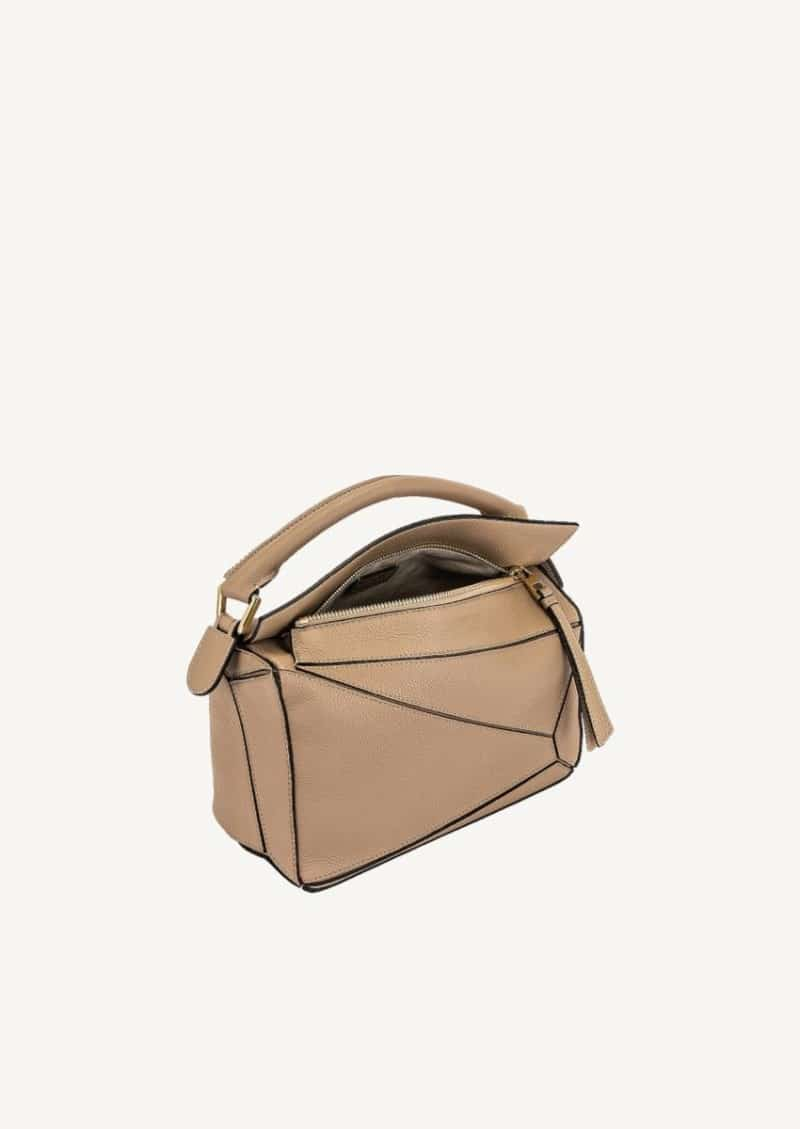 Sand small Puzzle bag in soft grained calfskin