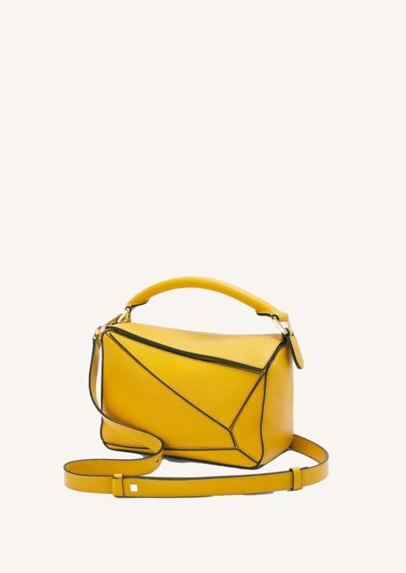 Petit sac Puzzle mustard