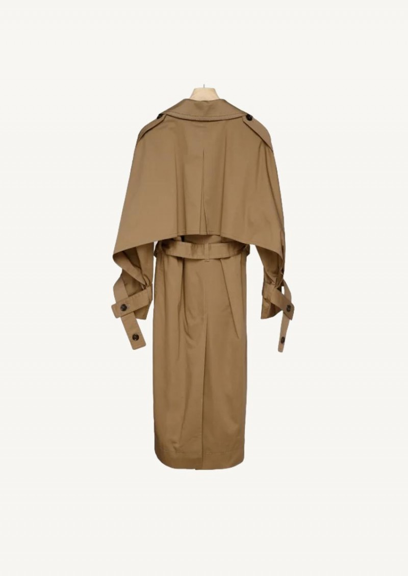 Light brown cotton trench coat