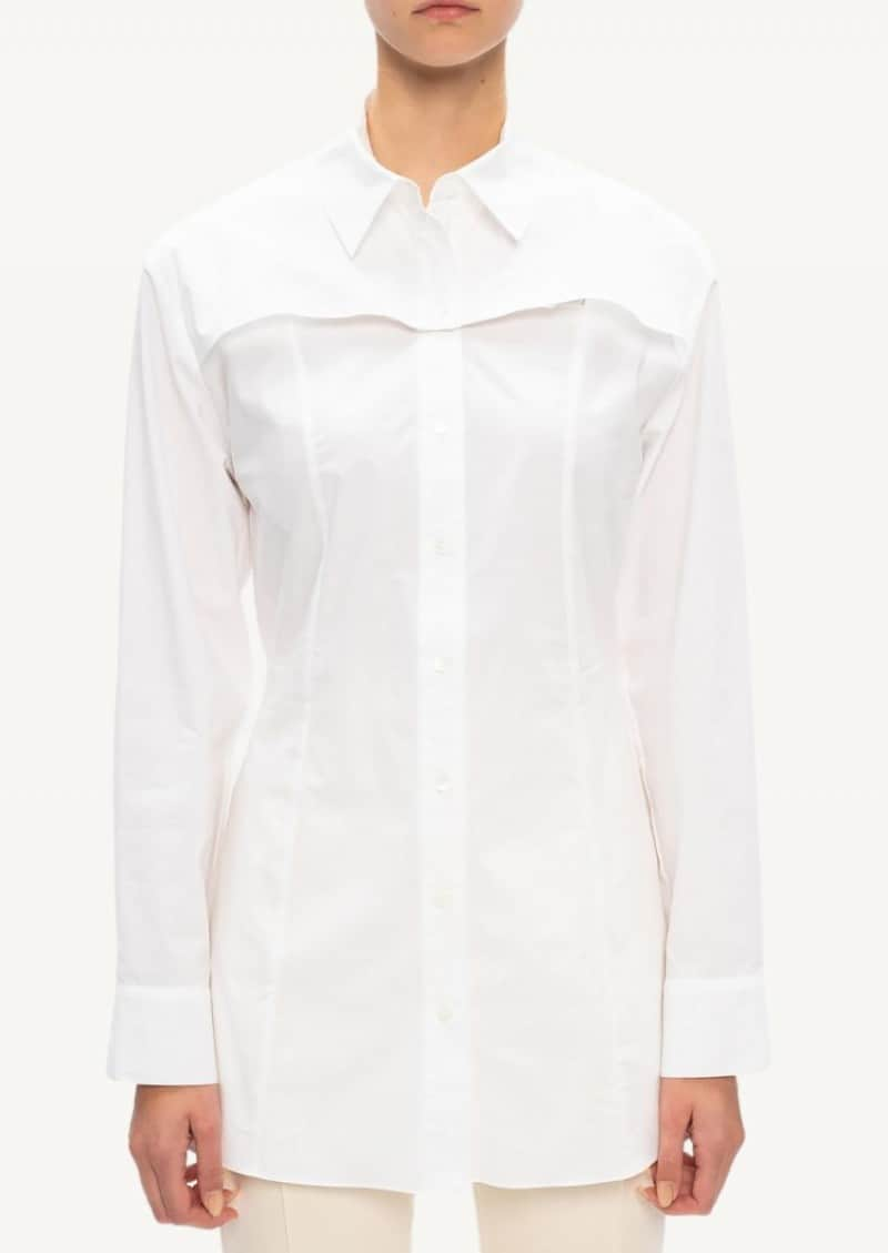Chemise sauge blanche