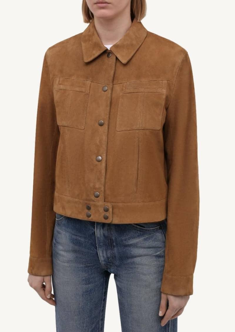 Tobacco suede jacket