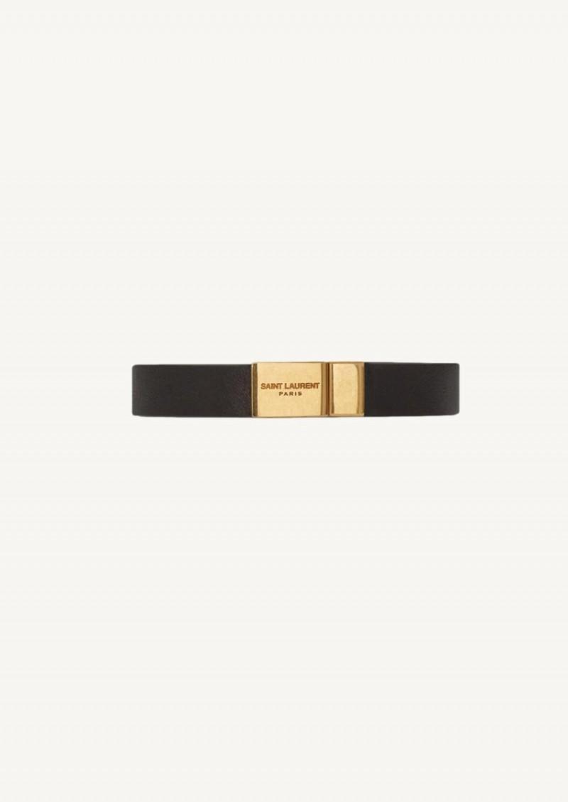 Opyum bracelet noir finition or