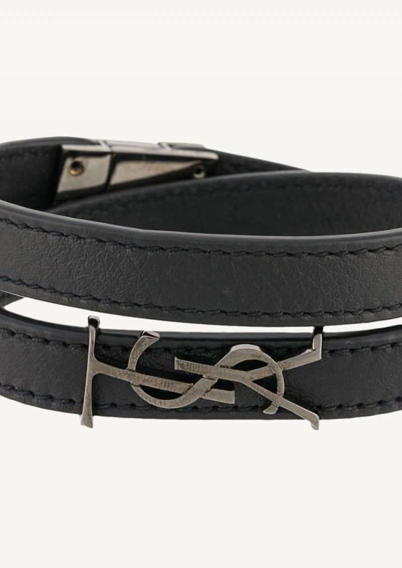 Bracelet double tour Opyum noir et gun metal