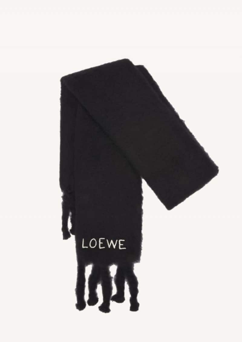 Black mohair scarf