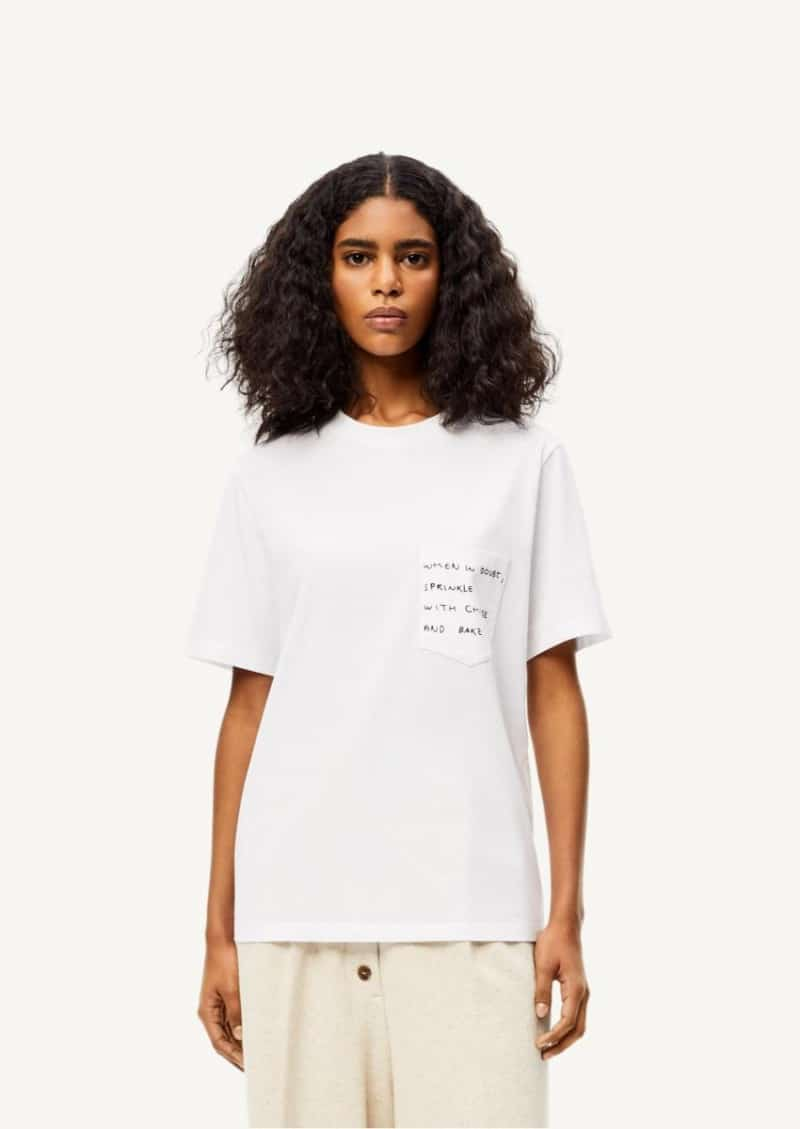 White Words T-shirt in cotton
