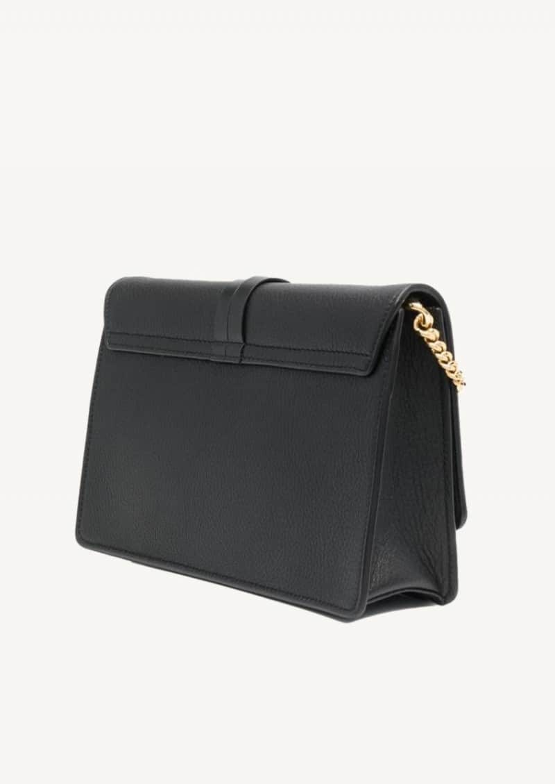 Black Alphabet pouch in leather