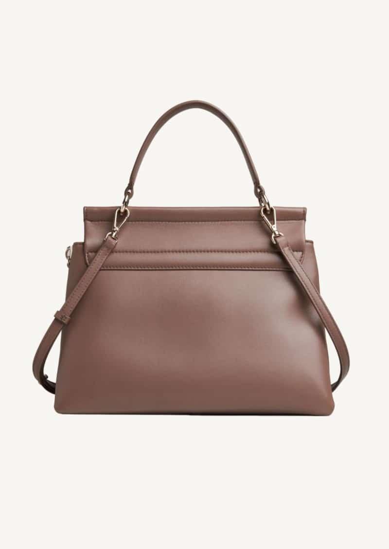Desert taupe Faye Soft handbag in supple lambskin
