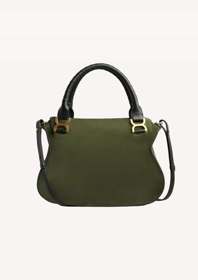 Night forest Marcie double carry bag in suede